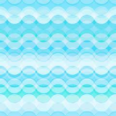 Seamless retro abstract pattern with stylized blue waves. Eps10