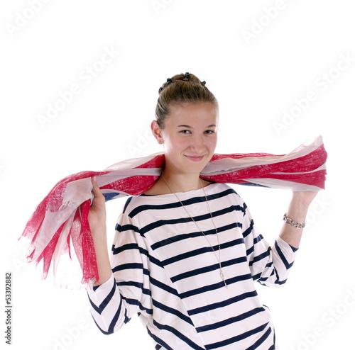 Junges Mädchen mit Schal