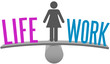 Woman balance life work decision choice