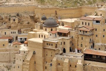 Mar Saba monastery buildings, Israel.
