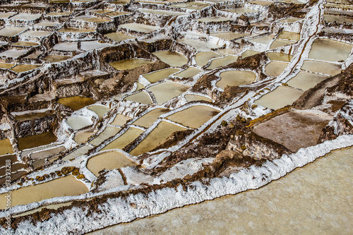 Peru,Salinas de Maras,Pre Inca traditional salt mine(salinas)