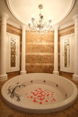 Luxurious bathroom with jacuzzi