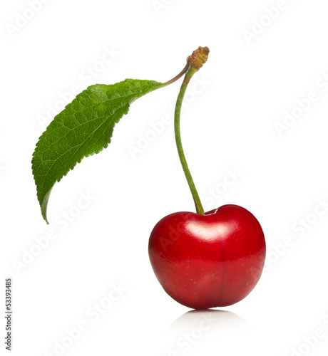 sweet cherry isolated on a white background