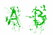 A and b painted green