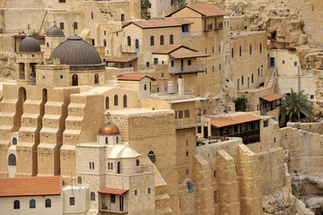 Mar Saba convent buildings, Israel.