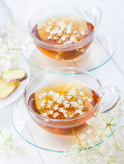 Cup of elder flower tea