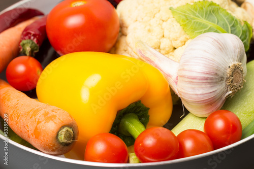 Fresh vegetables in a pot