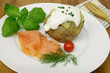 Ofenkartoffel mit Räucherlachs