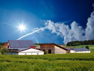 Dorf Solaranlage