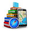 Travel, tourism and GPS navigation concept