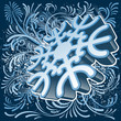 3D snowflake and winter ornament