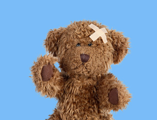 Nice teddybear with a band-air