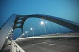 Steel structure bridge night scene - 53396019