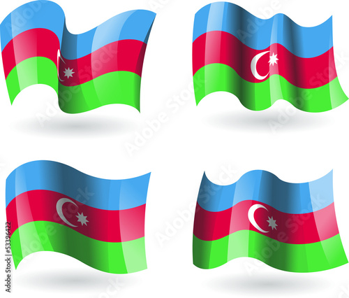 4 Bandeiras do Azerbaijão