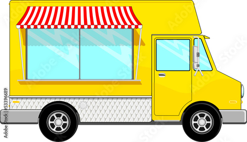 yellow food bus