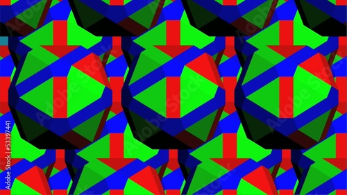 RGB Geometric Kaleidoscope Animation