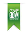 locally grown banner concept illustration design