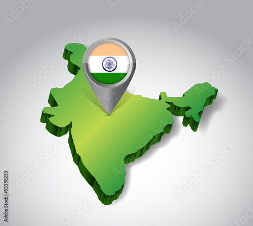 locating India concept illustration design