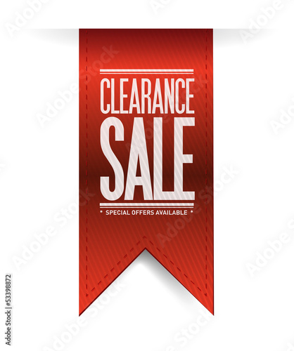 clearance sale red banner illustration design