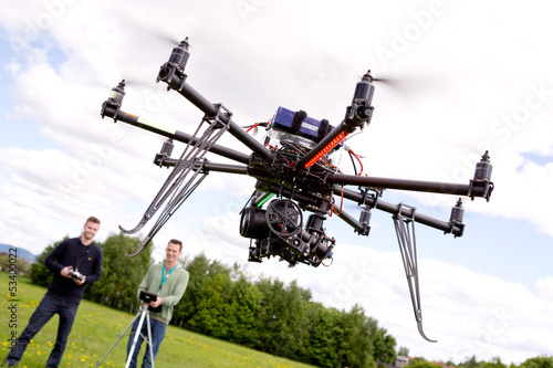 Photographer and Pilot with UAV