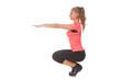 Girl doing sport exercise