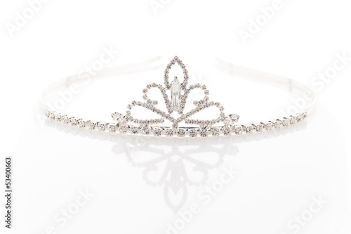 Wedding tiara with crystals