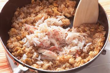 蟹飯   rice