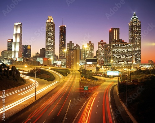 Skyline at dusk, Atlanta, Georgia © Arena Photo UK