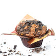 Schokoladenmuffin isoliert