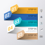 Abstract business process infographics template