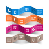 Abstract modern devices infographics template