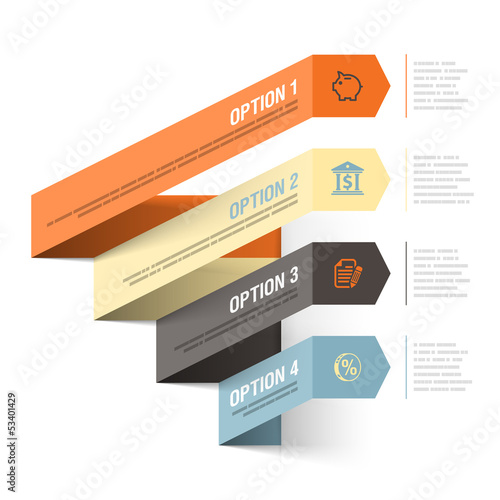 Abstract bank theme infographics template