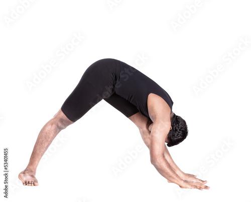 Yoga forward bending pose