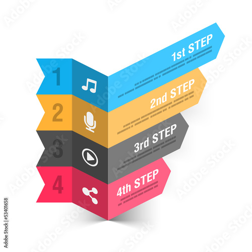 Modern music theme infographics template