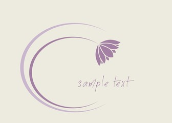 water lily , Buddha, Eco friendly business logo design