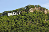 The name of the Brasov city in Romania in volumetric letters