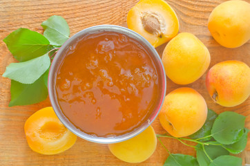 jam and apricots