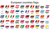 set of European countries flags icons