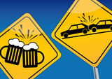 Fototapety Alkohol am Steuer, Verkehrskontrolle, Sicherheit, Schild