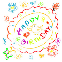 Doodles Birthday Greeting card