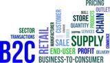 word cloud - b2c poster