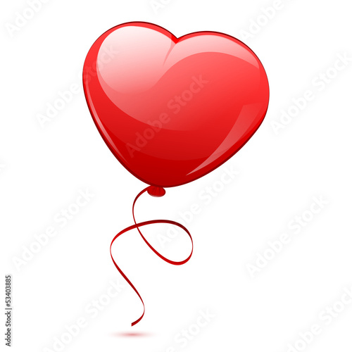 Vector illustration of red heart balloon