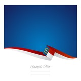 Abstract color background North Carolina flag vector