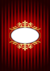 Vector red and gold vintage background