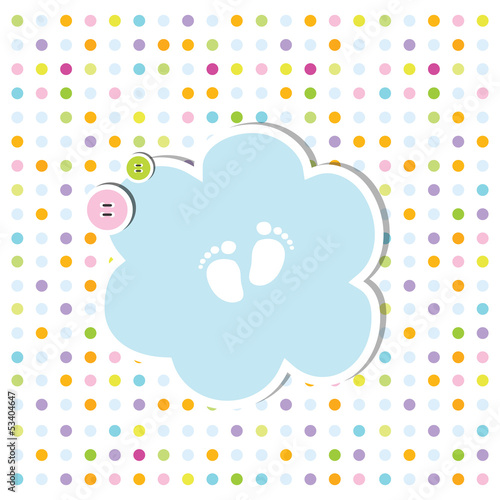cute baby shower invitation card baby arrival card with copy spa