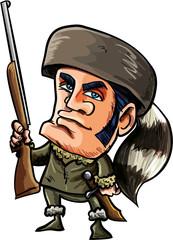 Cartoon of Davy Crockett