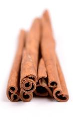 Cinnamon on white
