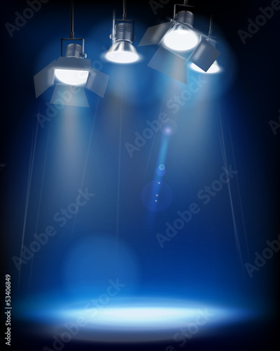 Studio Lights. Vector illustration.