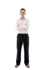 indonesian business man isolated on white background