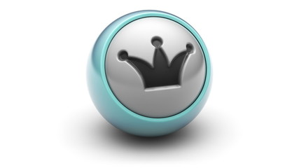 Crown icon on ball. Looping.